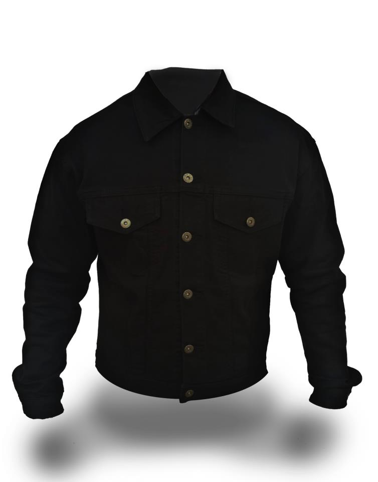 Black Denim Jacket (Slim Fit)