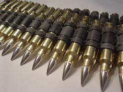 .308 Brass Bullet Belt With Nickel Tips