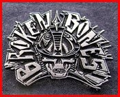 Broken Bones - Skull Flat - Metal Badge