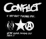 CONFLICT - If They Don&#39t Fucking Stop - Back Patch