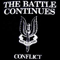 CONFLICT - The Battle Continues - Back Patch