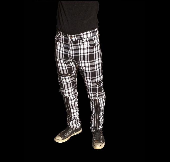 Black and White Bondage Pants