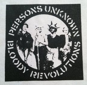 CRASS - Persons Unknown (black on white) - Patch