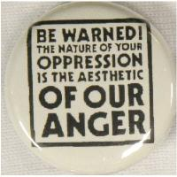 Crass - Be Warned - Button