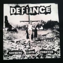 DEFIANCE - Nothing - Back Patch