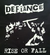 DEFIANCE - Rise Or Fall - Back Patch