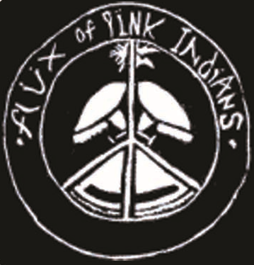 Flux of Pink Indians -  Peace Black - Button