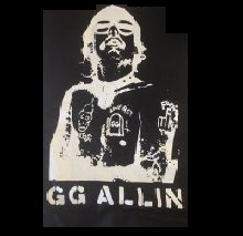 GG ALLIN - Live Fast - Back Patch