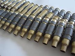 .223 Brass Bullet Belt With No Tips