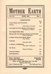 Mother Earth - Vol. 9 No. 4