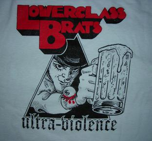 LOWER CLASS BRATS - Ultra Violence - Back Patch