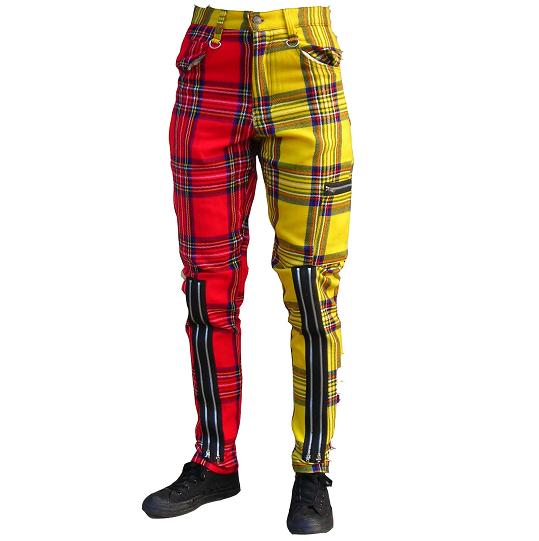 Red And Yellow Bondage Pants