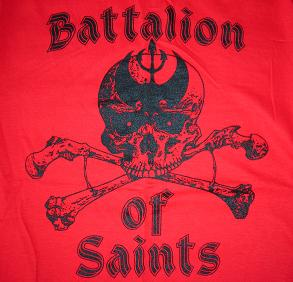 Battalion Of Saints - Red Skull - Shirt