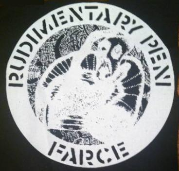 RUDIMENTARY PENI - Farce (inverse) - Back Patch