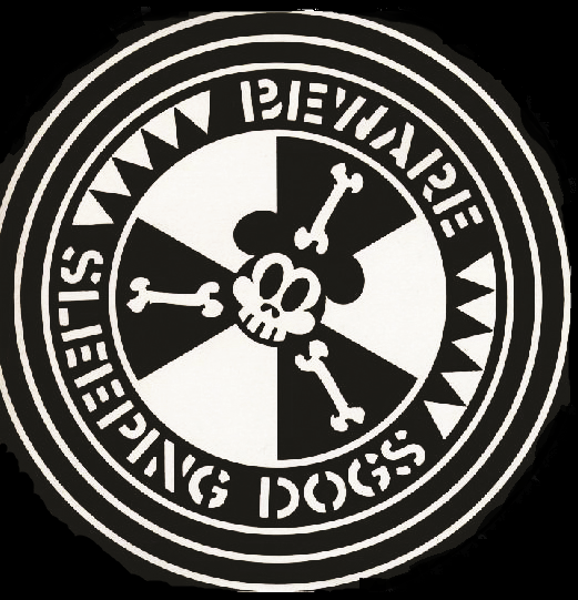 Sleeping Dogs - Beware - Button