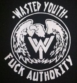 WASTED YOUTH - Fuck Authority - Patch