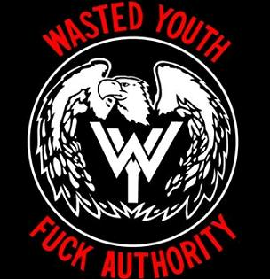 WASTED YOUTH - Fuck Authority - Back Patch
